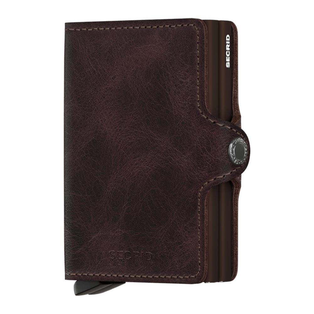 Secrid Twinwallet Vintage Chocolate Leather Wallet