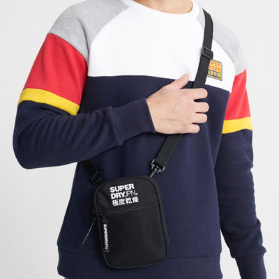 Superdry Sports Pouch Bag Black