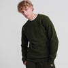 Superdry Urban Athletic Crew Neck Sweatshirt Surplus Goods Olive Slub
