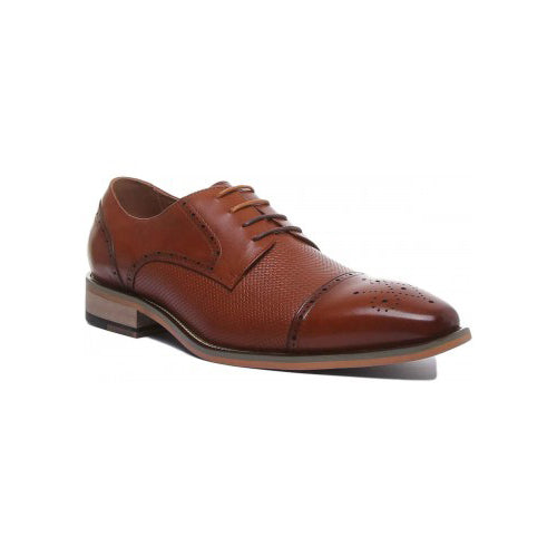 Justin Reece Aspen Brogue Shoes Tan