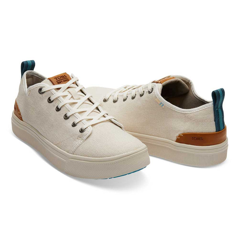 TOMS Men's Beige Canvas TRVL Lite Sneakers