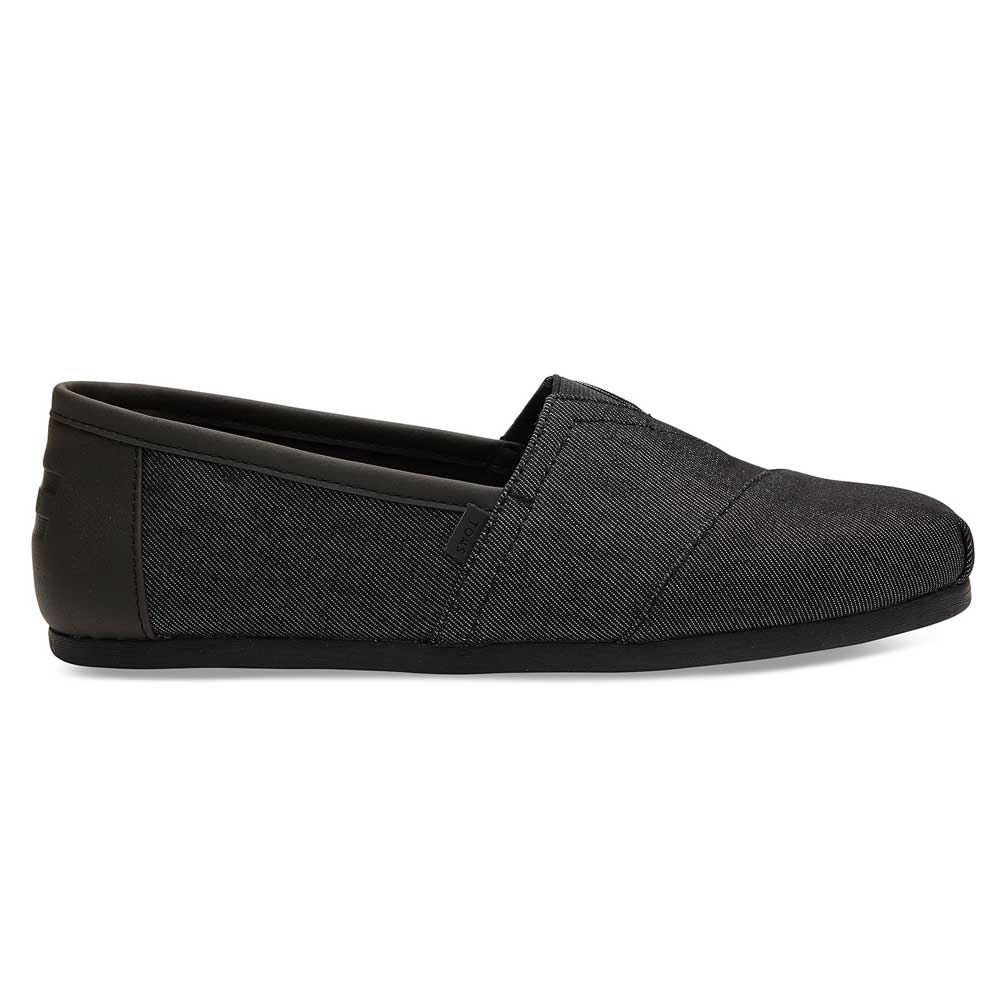 TOMS Black Denim with Synthetic Trim Men's Classics