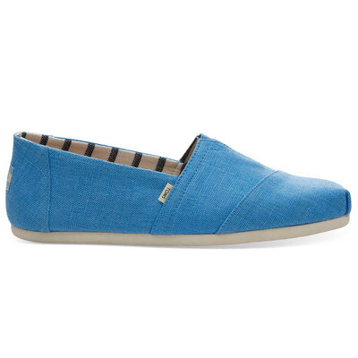 TOMS Men's Bliss Blue Heritage Classics Espadrille Slip On's