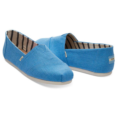 New Summer 19 Men's TOMS Classic Espadrilles in Bliss Blue Heritage