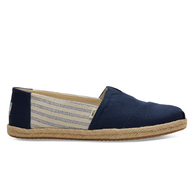 TOMS Navy Ivy League Striped Men's Espadrilles