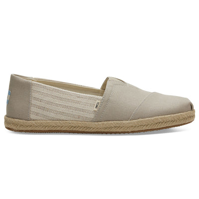 TOMS Oxford Tan Beige Ivy League Striped Men's Espadrilles