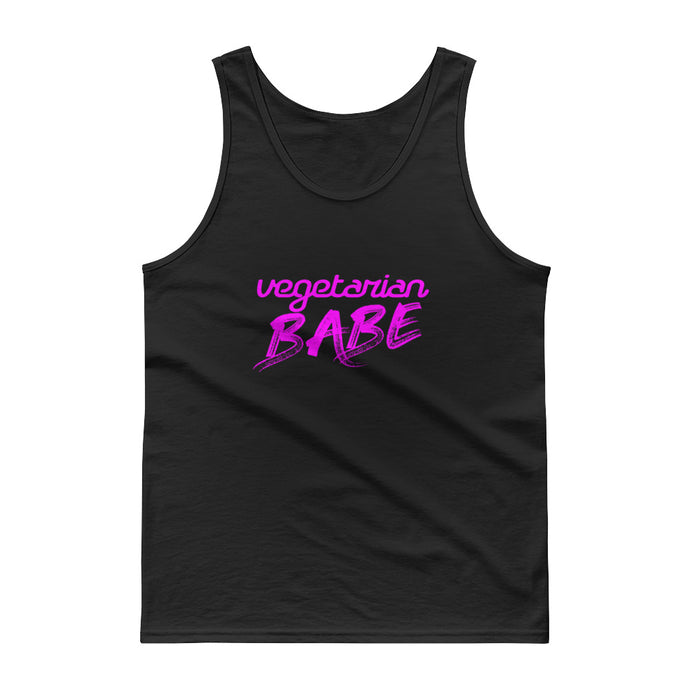 Vegetarian Babe - Ultra Cotton Tank top - Compassion Fashion4u