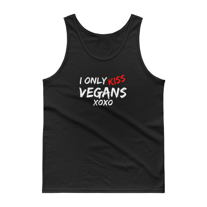 I Only Kiss Vegans XOXO - Ultra Cotton Tank top - Compassion Fashion4u