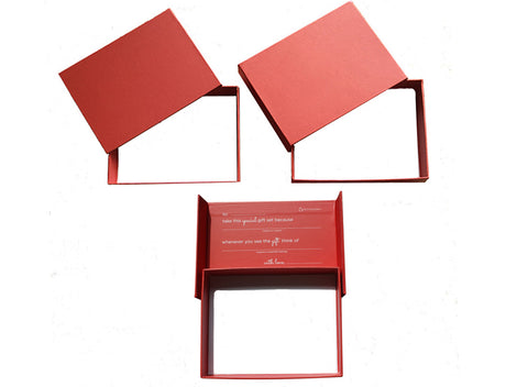 Set of 3 - Red fill-in-the-blank gift box - trinky things