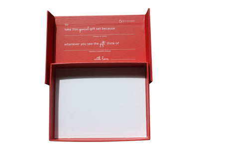 Red gift box easy to personalize - trinky things