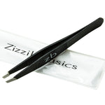 Surgical Grade Stainless Steel Slant Tweezers | Black