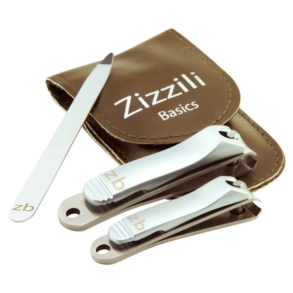 3-Piece Premium Nail Clipper Set | Brown