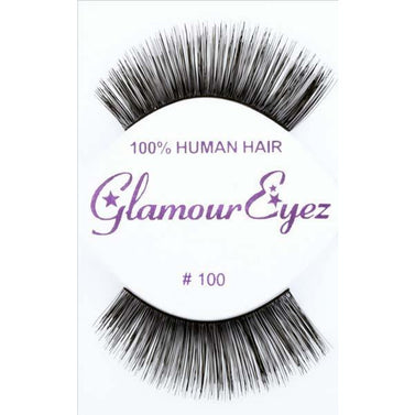 Long Human Hair Lashes - #100 - Make It Up Costumes