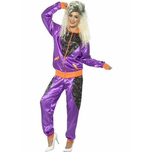 1980's Retro Jumpsuit in Purple - Make It Up Costumes