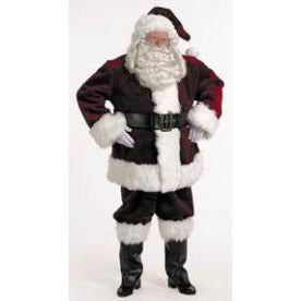 Santa Burgundy Velvet Rental Costume, size XL-for local pick up only - Make It Up Costumes