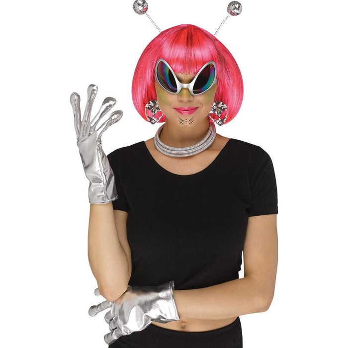 Instant Silver Alien Kit - Make It Up Costumes