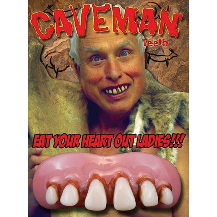 Billy-Bob Fake Caveman Teeth - Make It Up Costumes