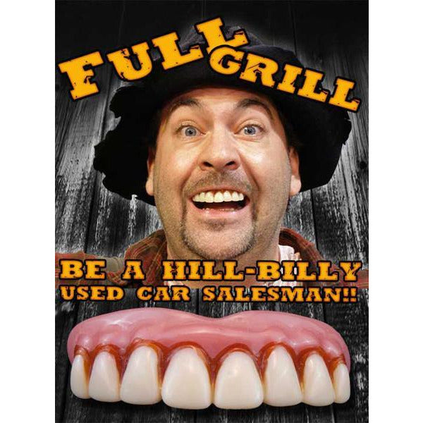 Billy-Bob Fake Hillbilly Teeth - Full Grill - Make It Up Costumes
