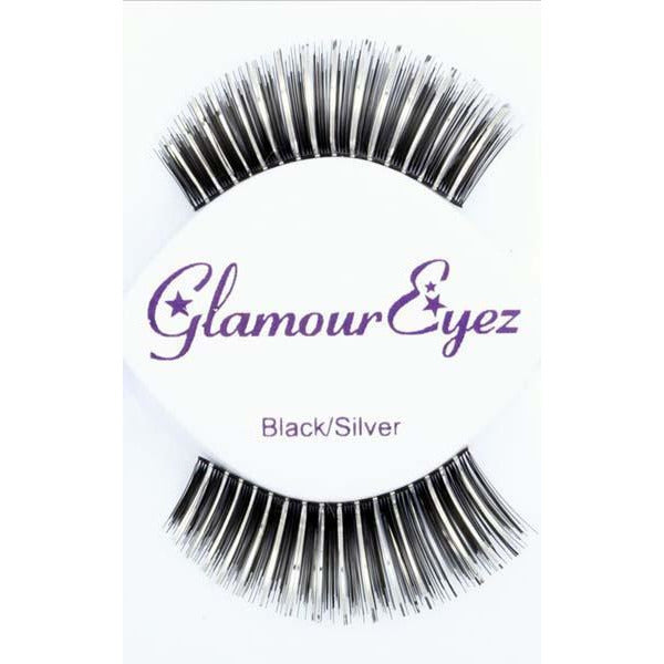 Black and Silver False Eyelashes - Make It Up Costumes