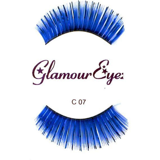 Blue Lashes with Tinsel - Make It Up Costumes