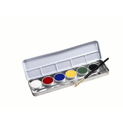 Ben Nye Primary Crème Face and Body Paint Makeup Palette (6 Colors) - Make It Up Costumes