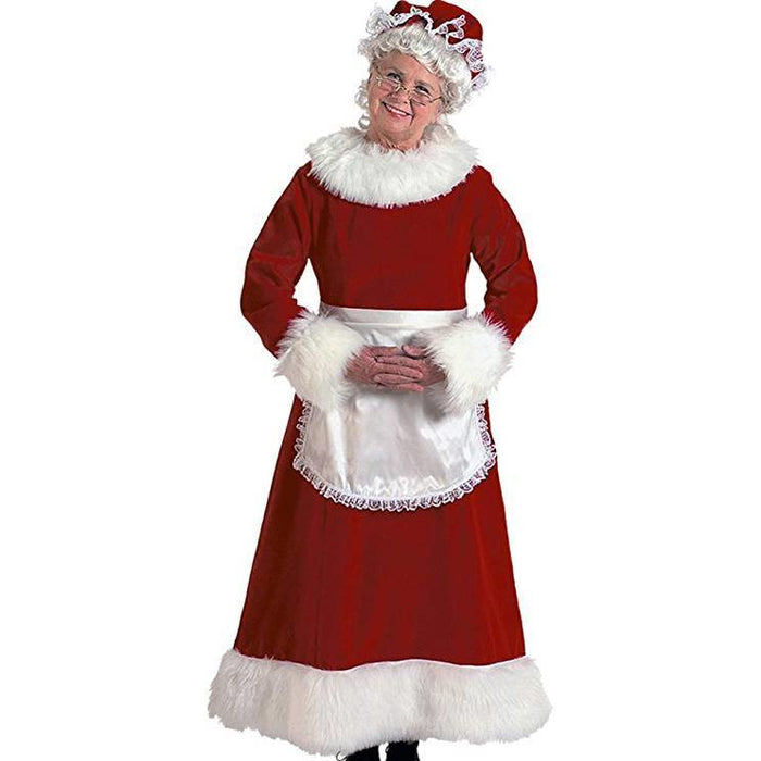 Mrs. Claus Burgundy Velvet Rental Costume for local pick up only - Make It Up Costumes