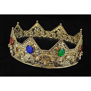 King's and Queen's Gold Crown Prop - Make It Up Costumes