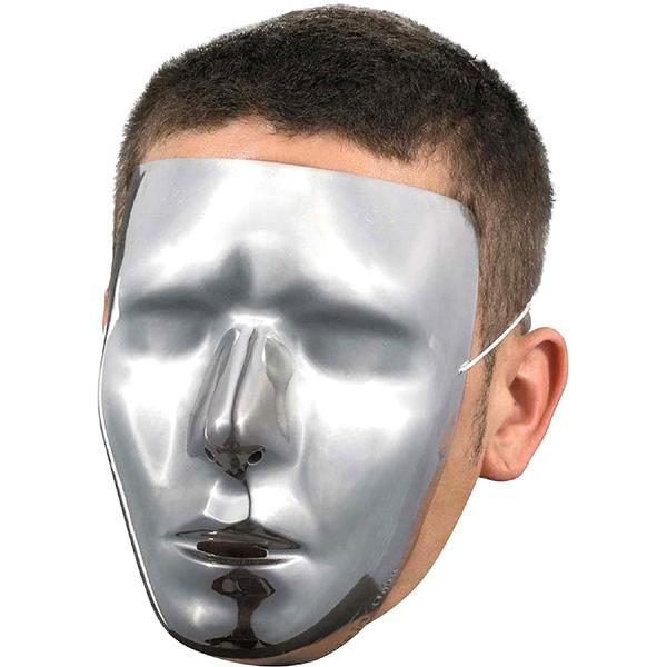 Blank Male Chrome Mask - Make It Up Costumes