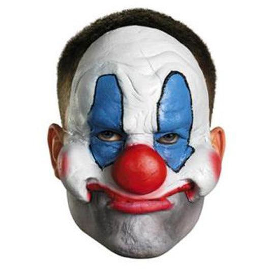 Creepy Clown Vinyl Half Mask - Make It Up Costumes