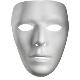 Men's White Blank Mask - Make It Up Costumes