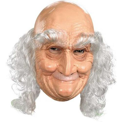 Old Man Mask with Hair - Make It Up Costumes