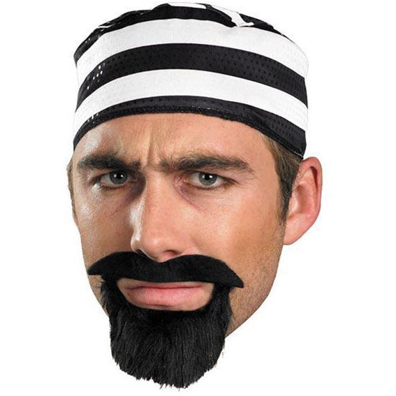 Fake Prisoner Mustache and Beard Set - Make It Up Costumes