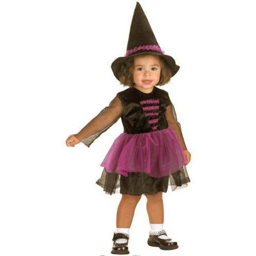 Toddler Girl Witch Costume - Black & Purple - Make It Up Costumes