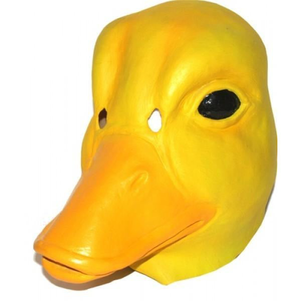 Yellow Latex Duck Head Mask - Make It Up Costumes