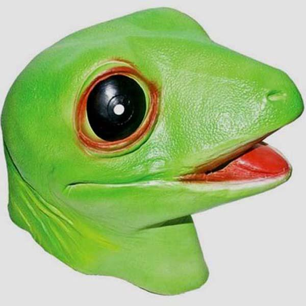 Gecko Latex Mask - Make It Up Costumes