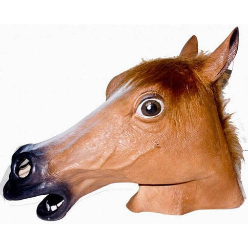 Brown Horse Head Mask - Make It Up Costumes