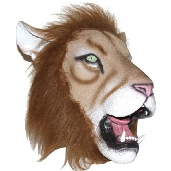 Latex Lion Head Mask - Make It Up Costumes
