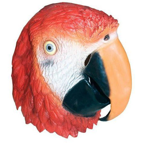 Latex Parrot Head Mask - Make It Up Costumes