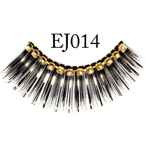 Black Sparkly Jeweled Lashes-EJ014 - Make It Up Costumes