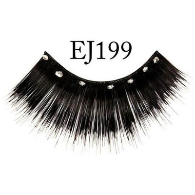 Black Lashes with Jewels - #EJ199 - Make It Up Costumes