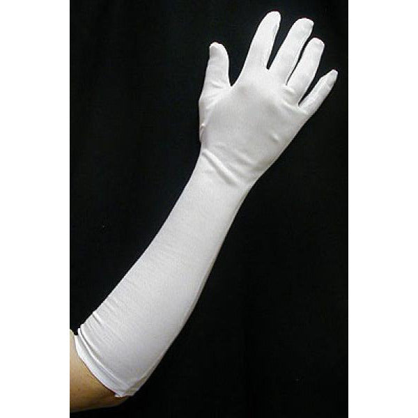 Elbow Length Dress Gloves for Women-Red, White or Black - Make It Up Costumes