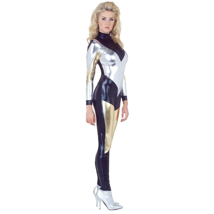 Electra Metallic Adult Jumpsuit - Make It Up Costumes