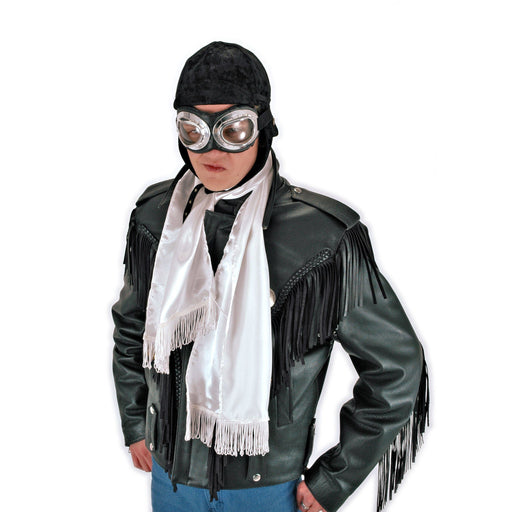 White Aviator Scarf - Make It Up Costumes