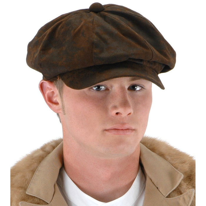 Brown Steampunk Flat Driver Cap - Make It Up Costumes