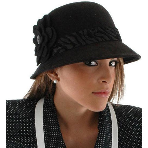Black Cloche Hat - Make It Up Costumes