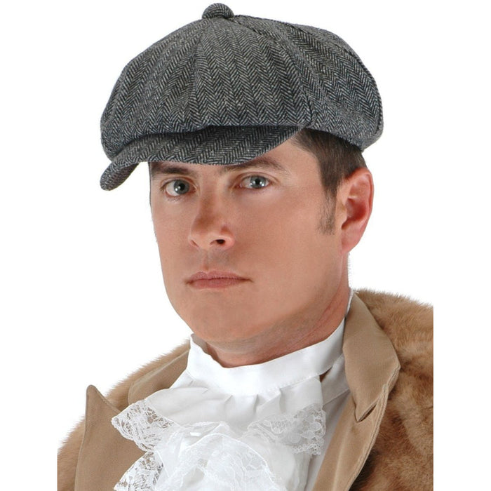 Herringbone Steampunk Flat Driver Cap - Make It Up Costumes