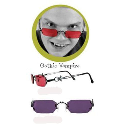 Gothic Vampire Sunglasses with Colored Lenses - Make It Up Costumes