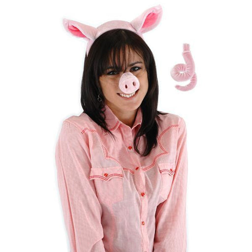 Pig Costume Accessories Set with Ears, Nose and Tail - Make It Up Costumes