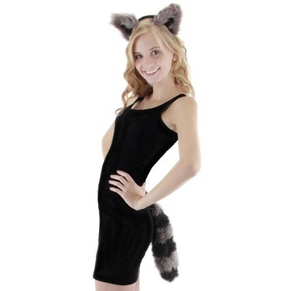 Raccoon Costume Ears and Tail - Make It Up Costumes