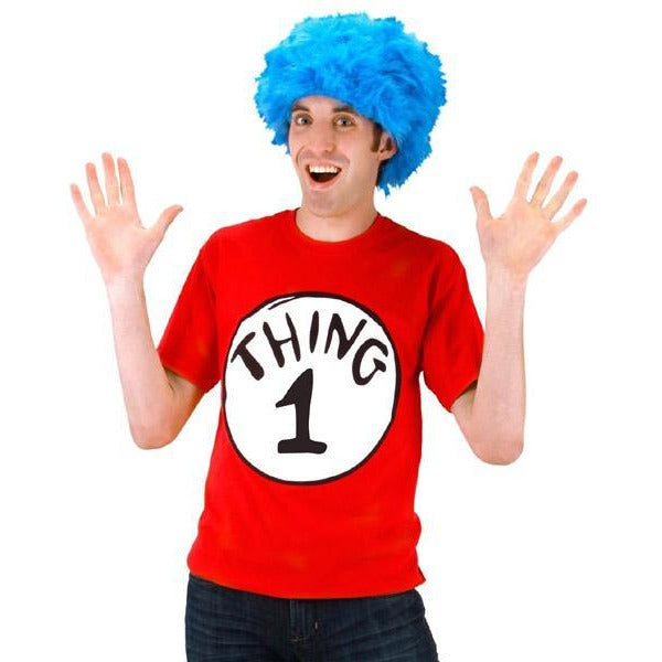 Thing 1 or Thing 2 Costume with Wig - Make It Up Costumes